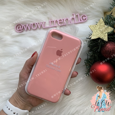 Чехол iPhone 7/8 Silicone Case /pink/ пудра 1:1