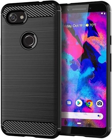 Чехол на Google Pixel 3a XL цвет Black (черный), серия Carbon от Caseport