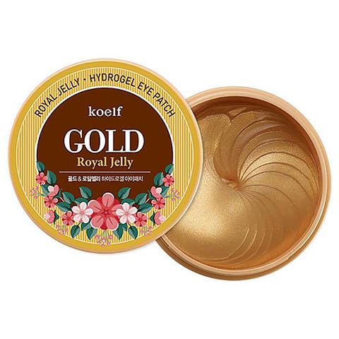 Koelf Патчи гидрогелевые c золотом и маточным молочком - Gold & royal jelly eye patch, 60шт