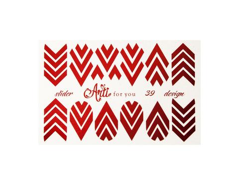 Фольга для дизайна ногтей цвет красный 39 купить за 120руб