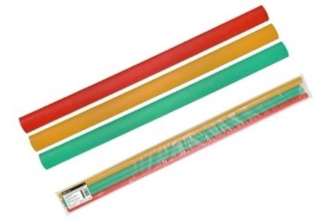 Трубки термоусаживаемые, набор 3 цвета по 3 шт. ТТкНГ(3:1)-19,1/6,4 TDM