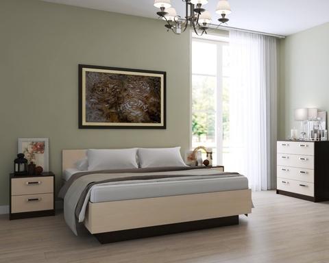 Спальня модульная ВЕКТОР-22 малая венге / дуб паллада
