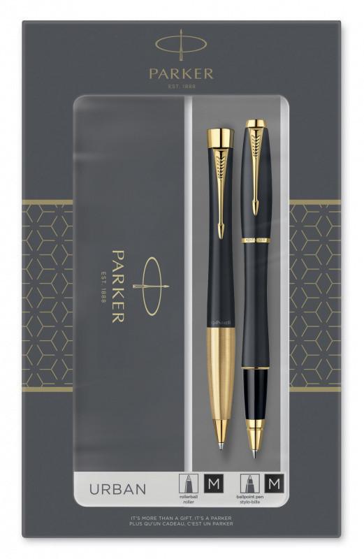 Набор подарочный Parker Urban Core - Muted Black GT, ручка роллер+ручка шариковая