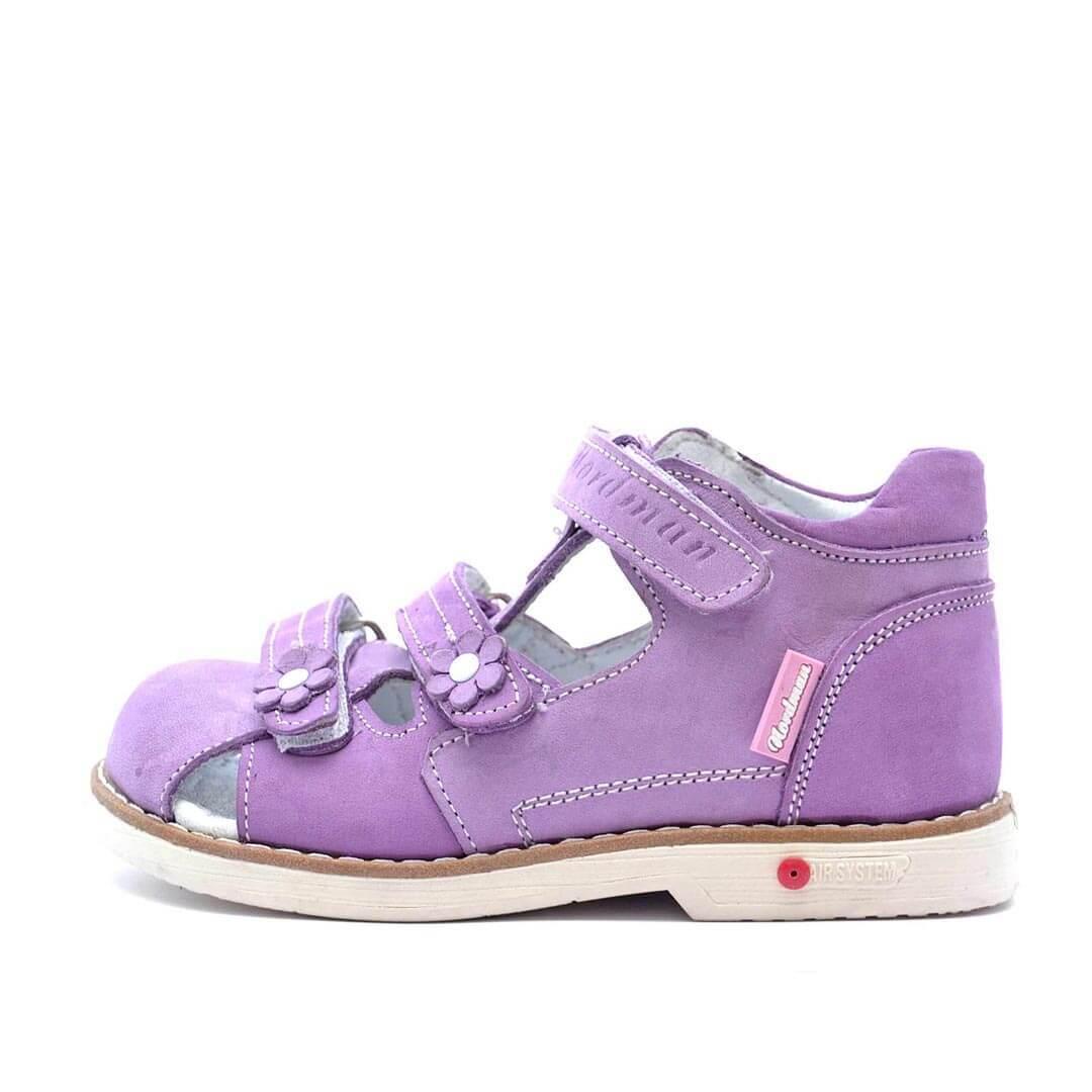 Кожаные анатомические сандалики Nordman Play фиолетовые