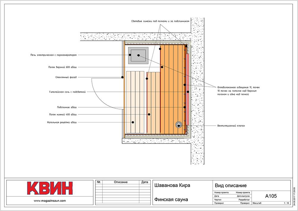 Проект сауна 2,55х2,2 материал: липа, абаш, вставки кед, фото 5