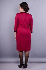 Вінтаж. Святкова жіноча сукня плюс сайз. Бордо.