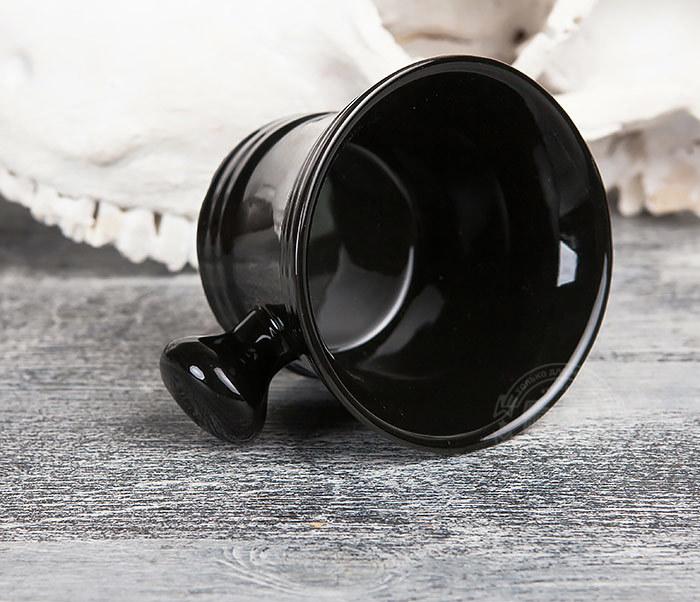 RAZ315 Большая керамическая чаша для бритья с рукояткой фото 04