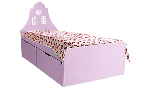 Детская кровать с двумя выдвижными ящиками