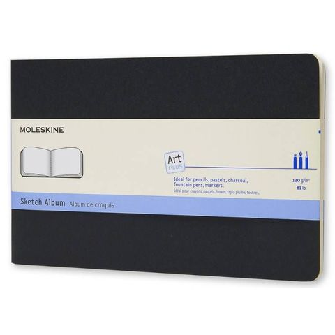 Блокнот для рисования Moleskine CAHIER SKETCH ALBUM ARTSKA3 Large 130х210мм обложка картон 88стр. черный