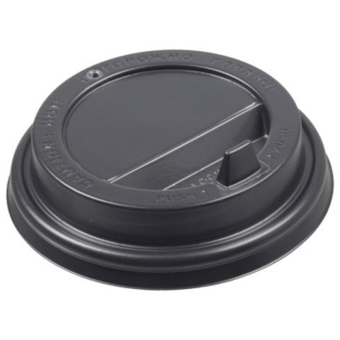 Крышка для бумажных стаканчиков Formacia 250 мл с клапаном (диаметр 80 мм, черная; упаковка 100 шт.)