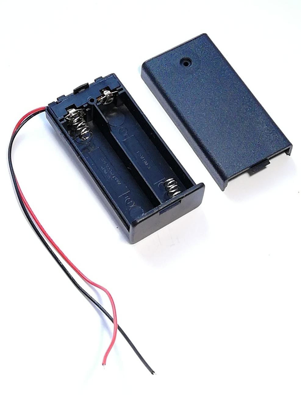 Батарейный отсек 2*АА с выключателем, без разъема