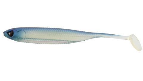 Виброхвост LJ 3D Series Makora Shad Tail 5.0in (12,7 см), цвет 001, 4 шт.