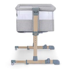 Кроватка приставная Kinderkraft Neste Air Wood Grey Melange