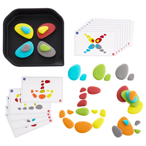 Набор  FunPlay радужные камешки с карточками