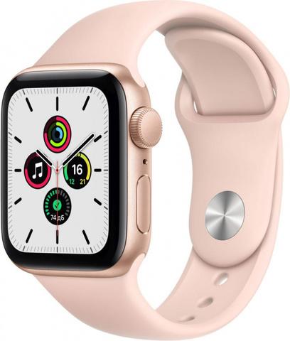 Умные часы Apple Watch SE, 40 мм, корпус из алюминия золотого цвета, спортивный ремешок