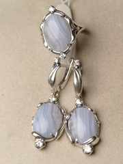Вива  (кольцо + серьги из серебра)
