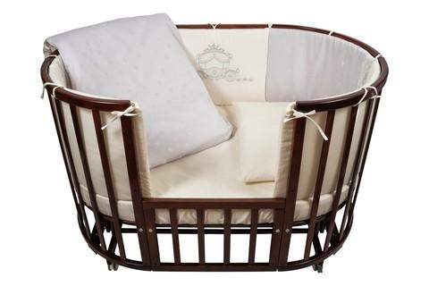 """Комплект в кроватку Nuovita """"Prestigio Pizzo"""", 6 предметов. (grigio / серый)"""