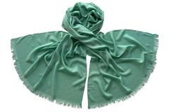 Палантин зеленый из вискозы 1750