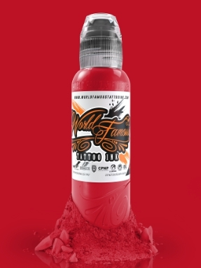 "Краска World Famous Tattoo Ink ""United Ink Red"" 1/2 унции - 15 мл"