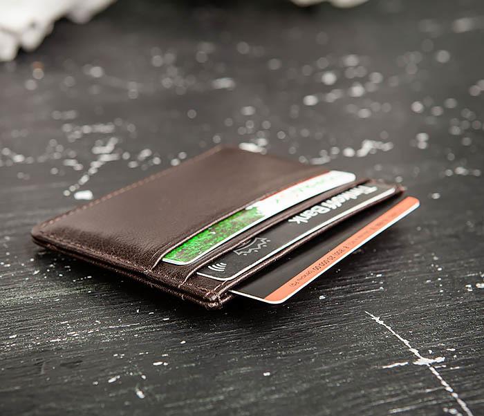 BC219-2 Тонкий кожаный кардхолдер (чехол для карточек), «Atos» фото 08