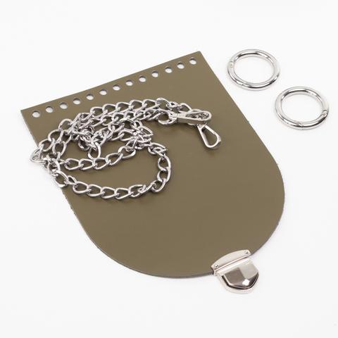 "Комплект для сумочки Орео ""Хаки"". Цепочка и замок ""200 мини"""
