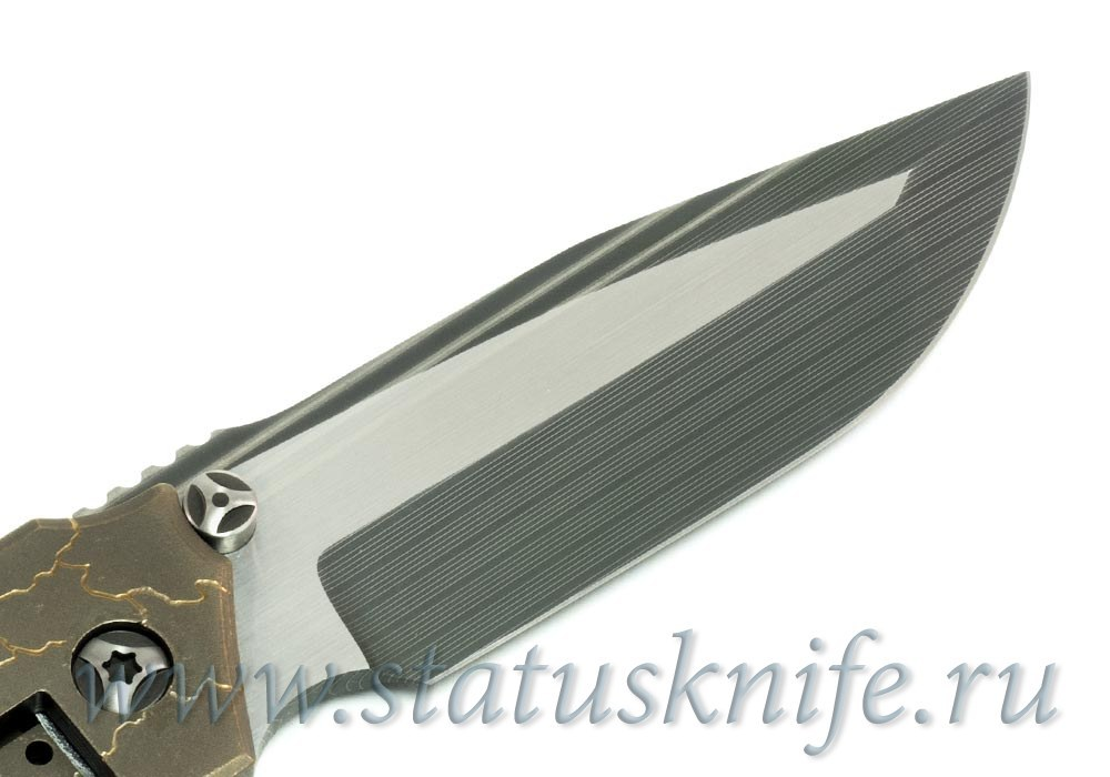 Нож Peter Rassenti Snafu Integral with Tuxedo Damascus - фотография