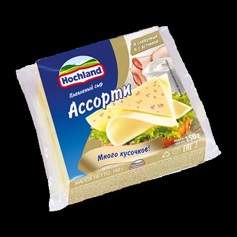 """Сыр плавленый """"Hochland"""" ассорти, 150 г"""