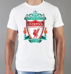 Футболка с принтом FC Liverpool (ФК Ливерпуль) белая 005