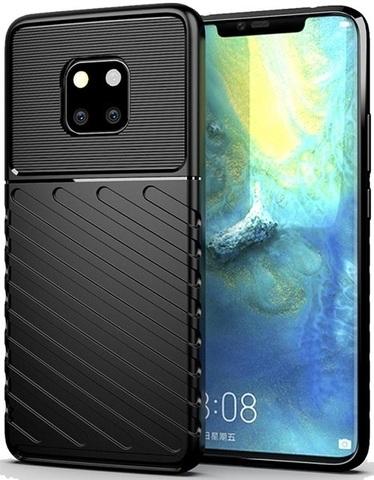 Чехол Carbon для Huawei Mate 20 Pro/20 RS серия Оникс | черный