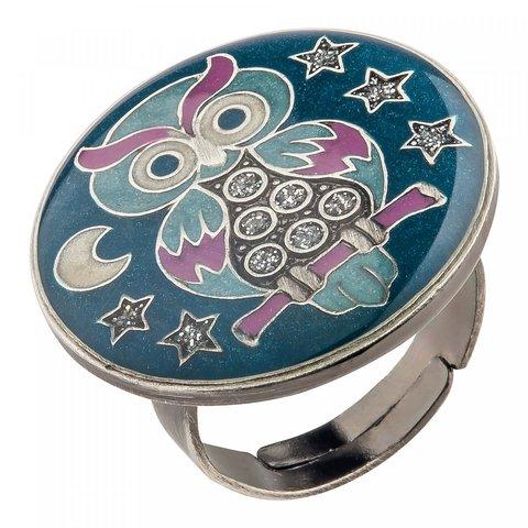 Кольцо Сова K27955-5 BL