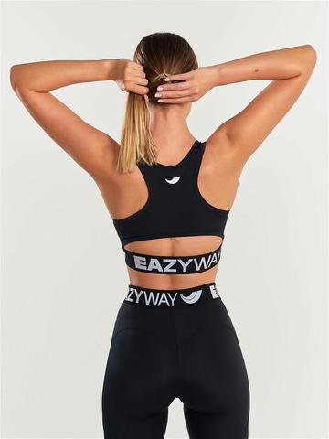 Спортивное бра женское для йоги и фитнеса с брендированной резинкой