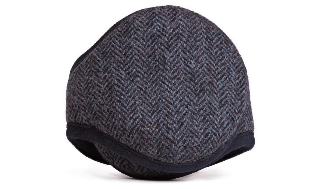 American Wool Navy Herringbone