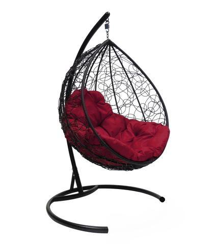 Кресло подвесное Lagos black/burgundy