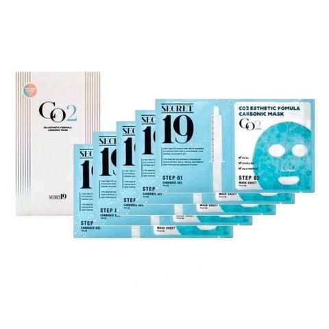 КАРБОКСИТЕРАПИЯ НАБОР Маска-активатор SECRET19 CO2 Esthetic Formula Carbonic Mask, 5 шт ESTHETIC HOUSE
