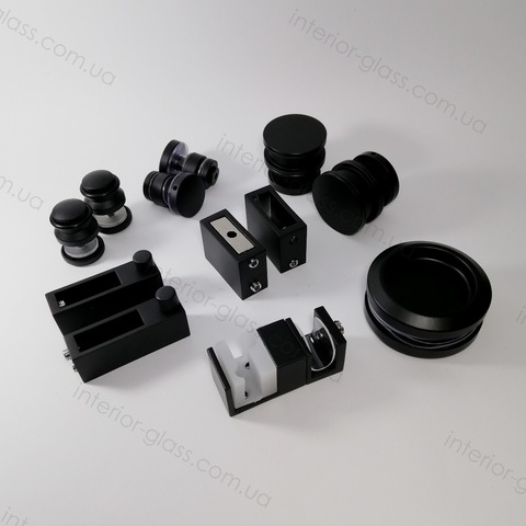 Комплект раздвижной душевой системы ST-301-2 BLK чёрный матовый