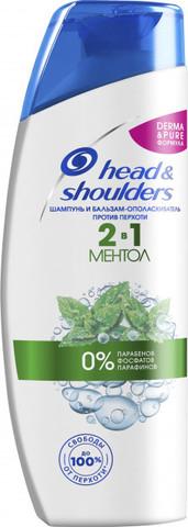 Şampun \ Шампунь-Бальзам Head & Shoulders 2в1 Ментол 400мл
