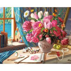 Aлмазная мозаика Рабочий стол художника