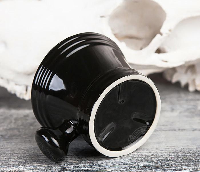 RAZ315 Большая керамическая чаша для бритья с рукояткой фото 05