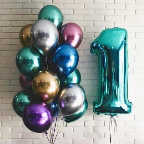 Шар Хром, зеленый, 30 см
