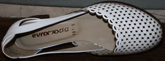 Летние белые туфли Evromoda 101-6 White.