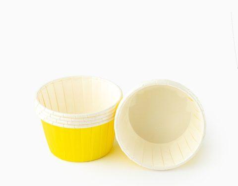 Капсулы для капкейков усиленные, желтые,20шт,50*30мм