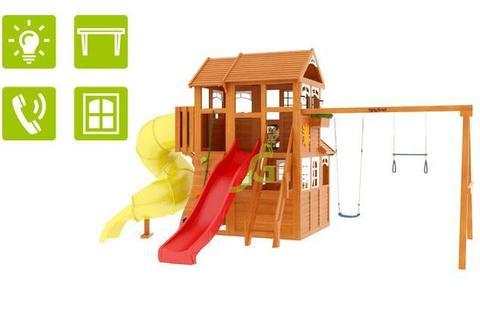 Детская площадка Клубный домик 3 с трубой Luxe