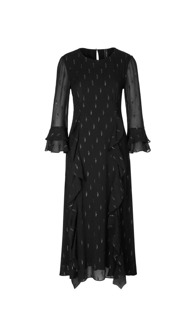 Marc Cain Платье в лепестки из люрекса