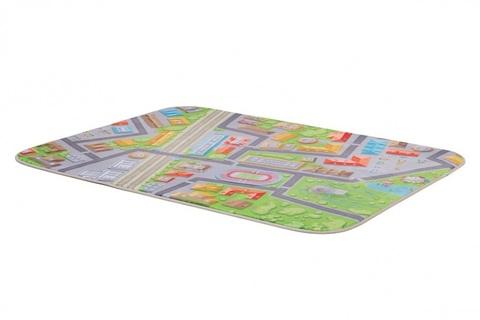 Плюшевый коврик 120х160 см Город