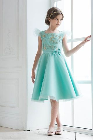 Дизайнерское платье мятного цвета (арт.302 мят)