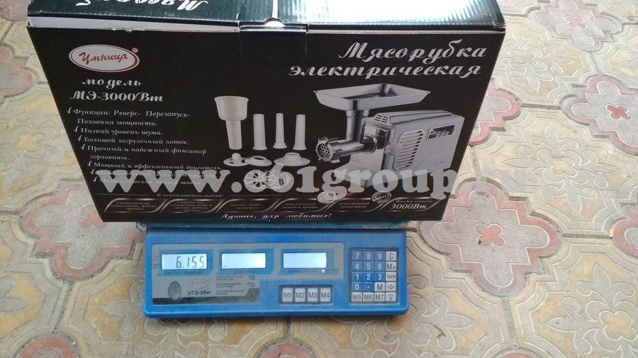 8 Мясорубка электрическая Комфорт Умница МЭ-3000Вт белая  хром. накладки дешево