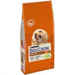 Сухой корм для собак старше 5 лет, Purina Dog Chow Mature Adult, с ягнёнком
