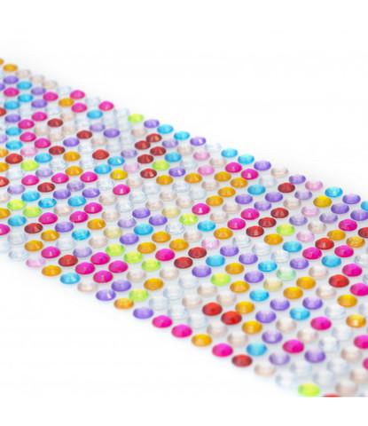 Стразы разноцветные 5мм длинные