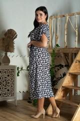 Алла. Платье міді великих розмірів. Дрібні квіти