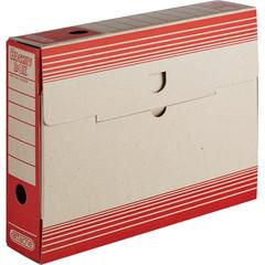 Короб архивный Attache картон красный 256х75х322 мм
